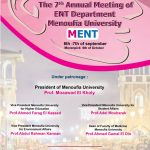 The 7th Annual Meeting of ENT Department, Menoufia University